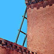 Roof Corner With Ladder Poster