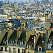 Roof Tops And Eiffel Tower Poster