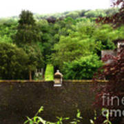 Roof Tops In Countryside Scenery With Trees - Peak District - England Poster