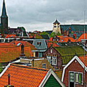Rooftops From Our Host's Apartment In Enkhuizen-netherlands Poster