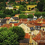 Rooftops In Sarlat Poster by Elena Elisseeva