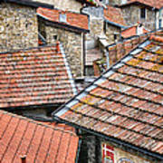Rooftops Of Apricale.italy Poster