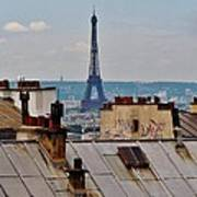Rooftops Of Paris And Eiffel Tower Poster