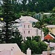 A Unique Aspect Of Rooftops In St. George's,  Bermuda Poster