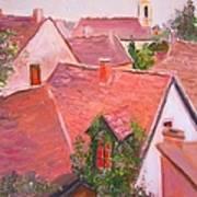 Rooftops Trogir Croatia Poster