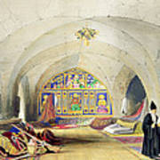 Room In An Armenian Convent Poster by A. Margaretta Burr