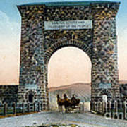 Roosevelt Arch Yellowstone Np Poster
