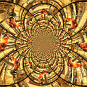 Crowing Rooster Kaleidoscope Poster