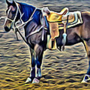 Ropin Horse Poster