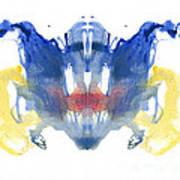 Rorschach Type Inkblot Poster