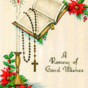 Rosary Good Wishes Poster