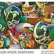 Rose Bowl Collage Poster