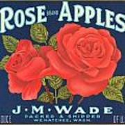 Rose Brad Apples Crate Label Poster