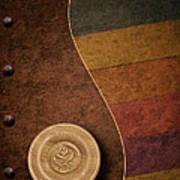 Rose Button Poster by Tom Mc Nemar