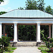Rose Garden Pergola In Delaware Park Buffalo Ny Oil Painting Effect Poster