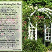 Rose Garden Prayer Poster