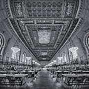 Rose Main Reading Room At The Nypl Bw Poster