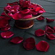 Rose Petals And Pottery Poster