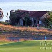 Rose Shack At 17 - Chambers Bay Golf Course Poster