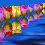 Roses Floating Poster by Tom Mc Nemar