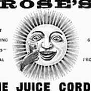 Roses Lime Juice Cordial Poster