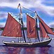 Roseway On Boston Harbor Poster