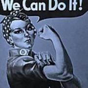 Rosie In Cyan Poster