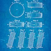 Ross Ice Hockey Puck Patent Art 1940 Blueprint Poster