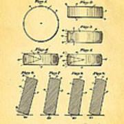 Ross Ice Hockey Puck Patent Art 1940 Poster