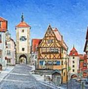Rothenburg Germany Poster by Mike Rabe