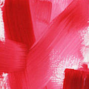 Rouge- Vertical Abstract Painting Poster