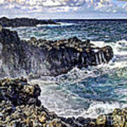 Rough Rocks Near Hana Poster