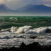 Rough Seas Kaikoura New Zealand Poster