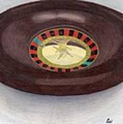 Roulette Wheel Poster by Bav Patel