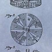 Roulette Wheel Patent Poster