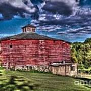 Round Red Barn Poster