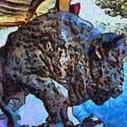 Round Up Market Buffalo Poster