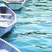 Rounded Row Of Rowboats Poster