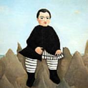 Rousseau's Boy On The Rocks Poster