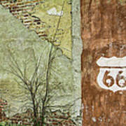 Route 66 Brick And Mortar Poster