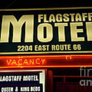 Route 66 Flagstaff Motel Poster by Bob Christopher