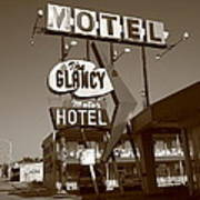 Route 66 - Glancy Motel Poster