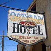 Route 66 - Oatman Hotel Poster
