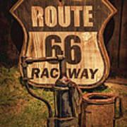 Route 66 Raceway Poster