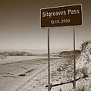 Route 66 - Sitgreaves Pass Poster