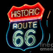 Route 66 Poster by Theodore Clutter