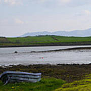 Row Boat At Low Tide - County Mayo Ireland Poster