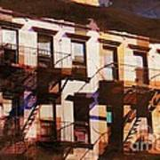 Row Houses - Old Buildings And Architecture Of New York City Poster