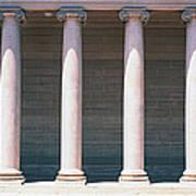 Row Of Columns San Francisco Ca Poster