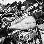 Row Of Harley Davidson Street Glide Motorbikes Outside Motorcycle Dealership Orlando Florida Usa Poster